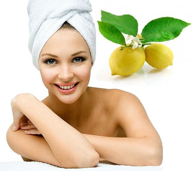 Антивозрастная маска с лимоном.