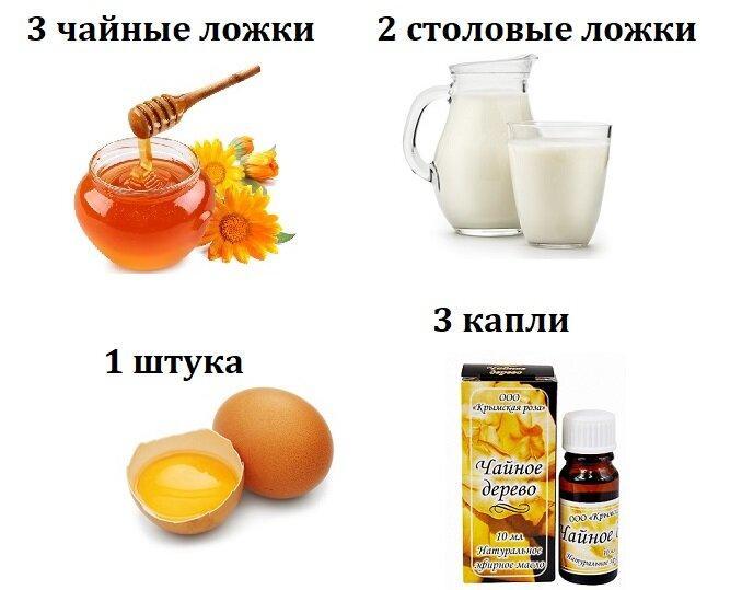 Домашний крем-маска из молока и мёда.