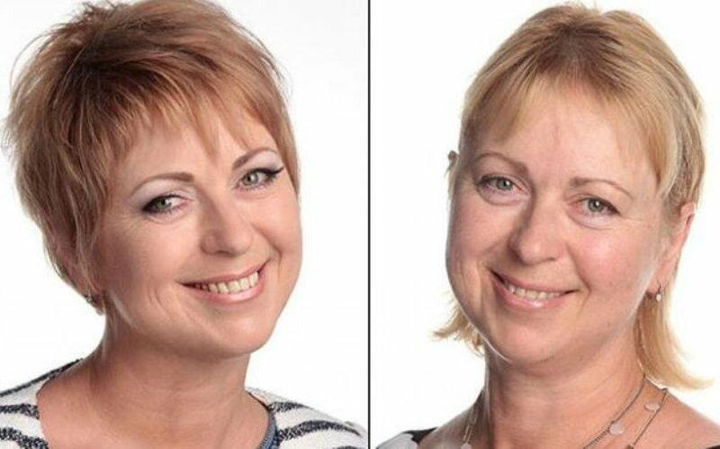 Стрижки и макияж для женщин за 40: было и стало (примеры)