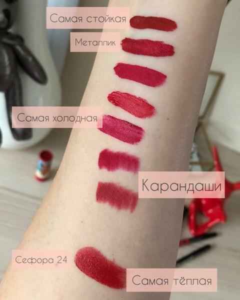 Топ-7 красных помад