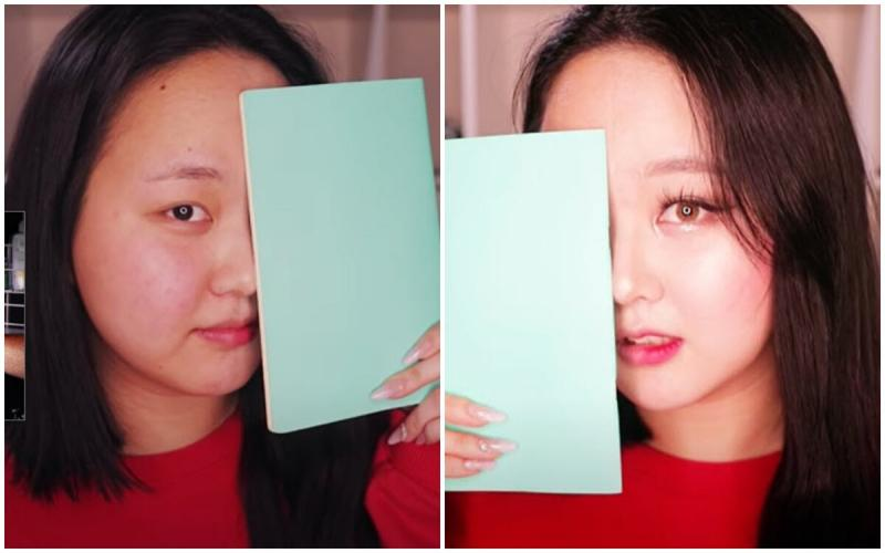 Кореянка наглядно показывает силу Корейского макияжа