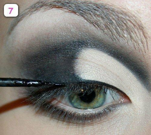 Вечерний макияж для холодных оттенков глаз