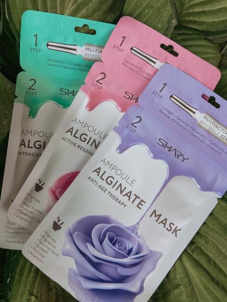 Обзор ампульных альгинатных масок Shary