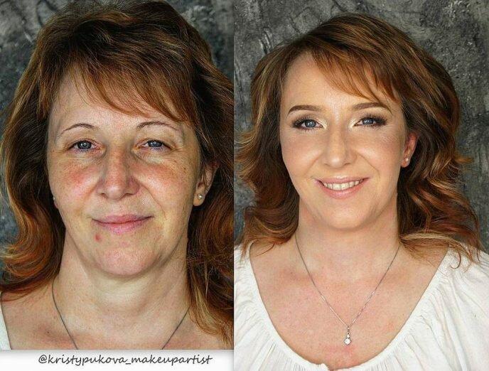 Женщина призналась, что никогда в жизни не считала себя красивой, пока в 61 год не попала к стилисту. Фото до и после