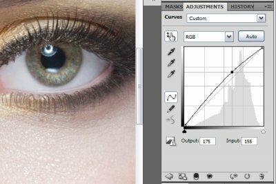 Придания выразительности и глубины глаз в фотошопе