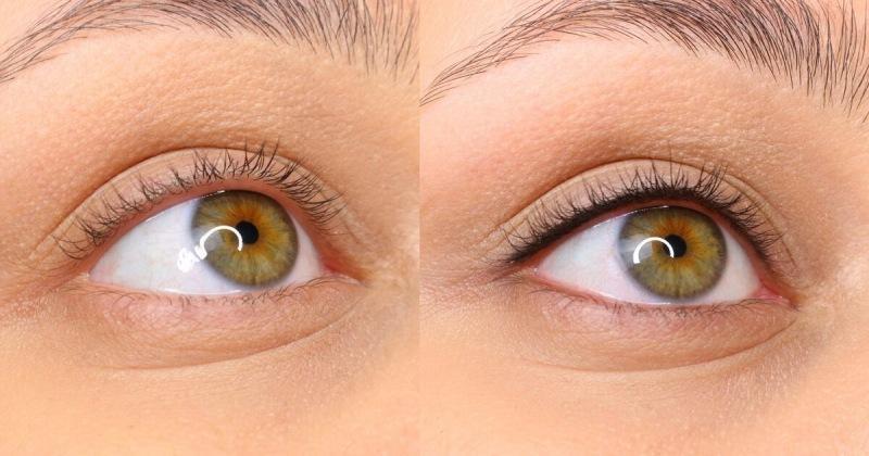 Как прокрасить межресничку. Эффект макияжа без макияжа.