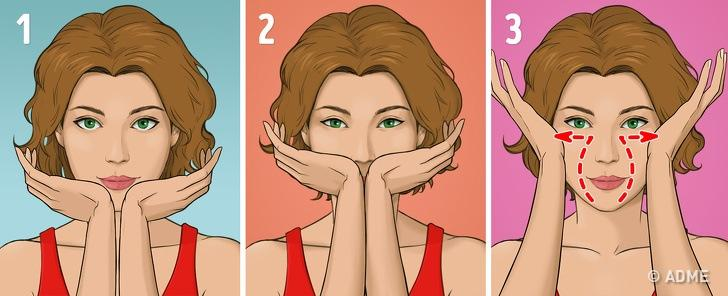 Японский массаж лица избавляет от морщин и отеков за 5 минут в день