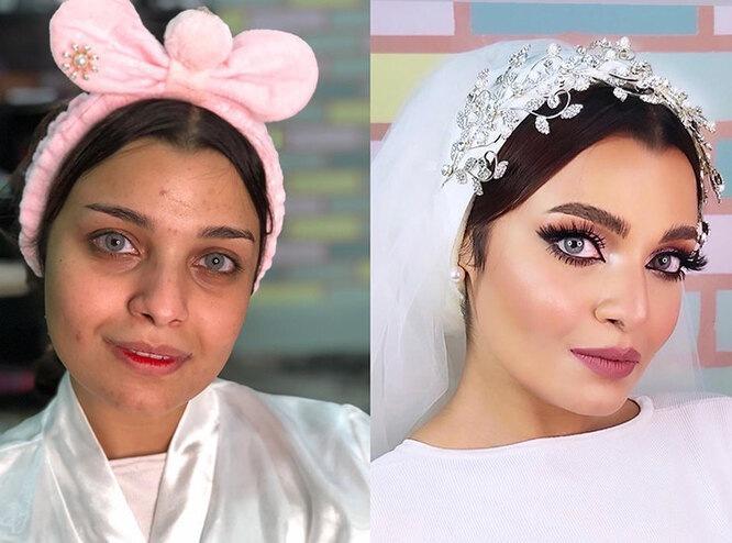 Как насамом деле выглядят арабские невесты: 7 фото смакияжем ибез