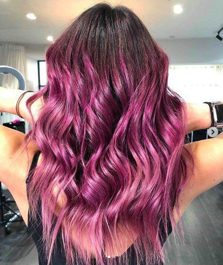 Фуксия: идеи для окрашивания волос